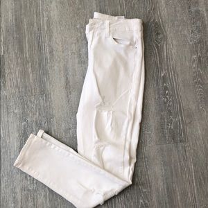 Old Navy White distressed skinny jeans